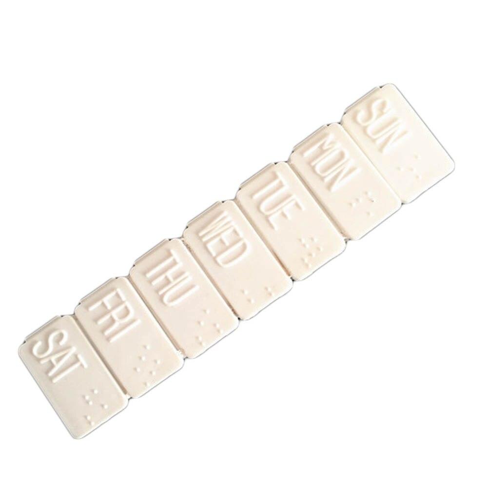 1 шт. Медицина таблетку препарата Мини Pillbox Контейнер одну неделю 7 дней малый несъемный Пластик случае