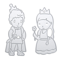 Wholesale 13 Patterns Cutting Dies Alpinia Oxyphylla Knurling Prince Princess Handmade Embrossing Scrapbooking Album Craft Toy