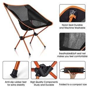 Image 4 - Chaise de Camping de plage extérieure moderne pour pique nique chaises de pêche chaises pliées pour jardin, Camping, plage, voyage, chaises de bureau