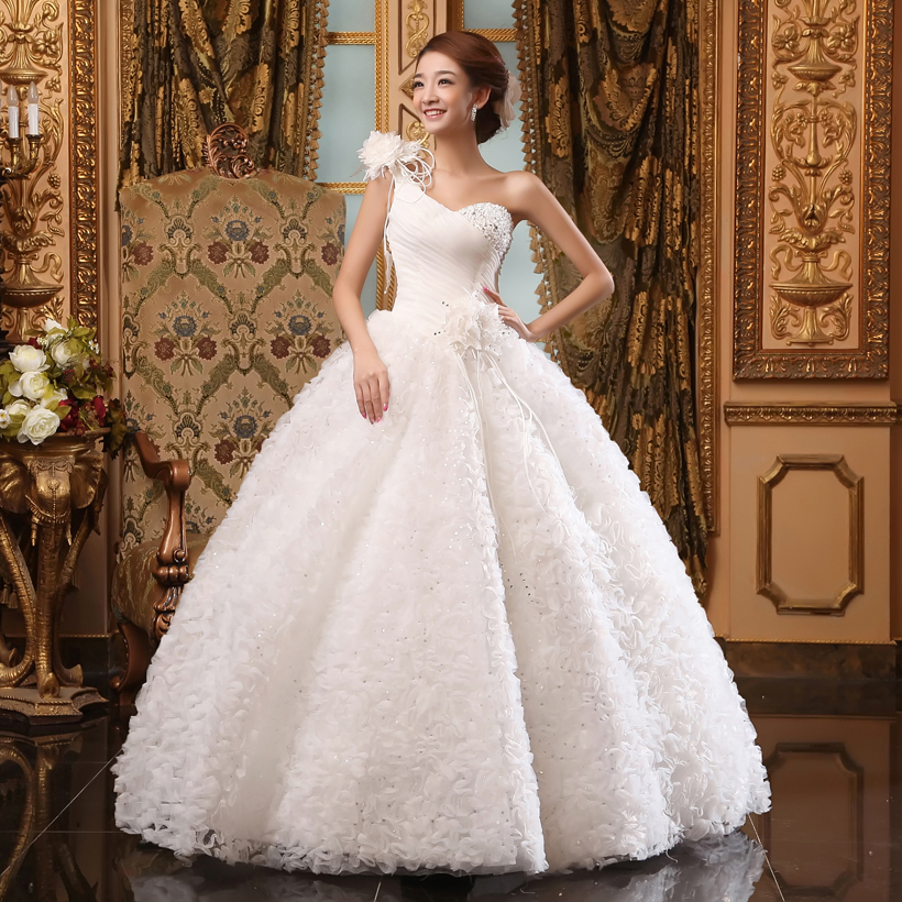 One Strap Wedding Gowns: New 2013 New Arrival Princess Bride Wedding Dress Sexy One