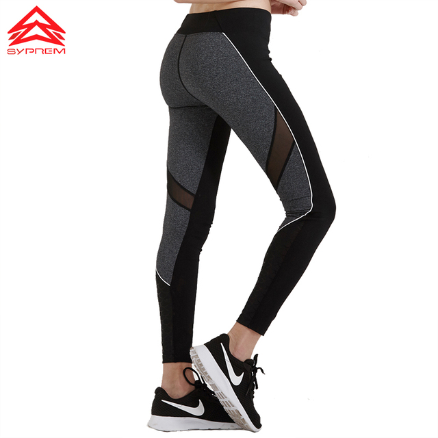 Syprem 2017 Spring New Style Women Yoga Pants Fitness Mesh Sports Leggings Running Trousers Tracksuit For Women,1FP1074