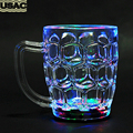 350ML Flashing LED Color Changing Clear Transparent Magic Cup Mug Party Bar Decor Beer Cup Mug Handheld Drinking R15