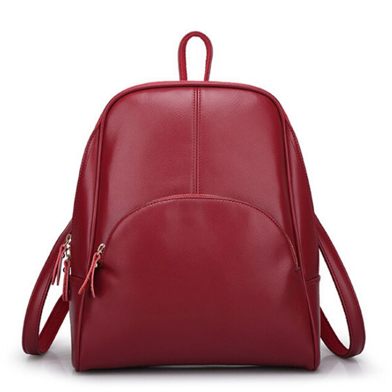 leisure ladies  2016 NEW  fashion backpack women backpack  Leather school bag women Casual style Q0