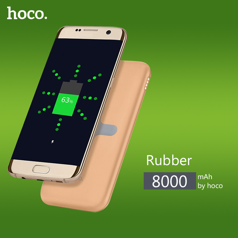 Original HOCO 8000mAh Wireless Charging Base Power Bank Portable Charger USB Charging Backup Battery For Almost