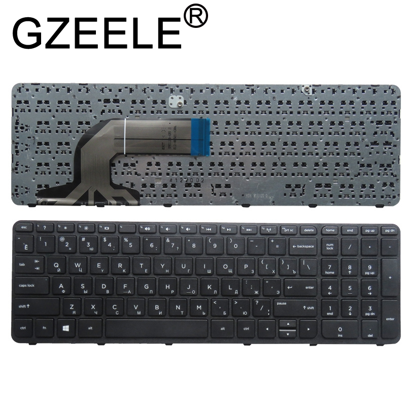 GZEELE RU Russian Laptop Keyboard For HP FOR Pavilion 350 G1 350 G2 355 G1 355 G2 351 G1 356 G2 Black With Frame