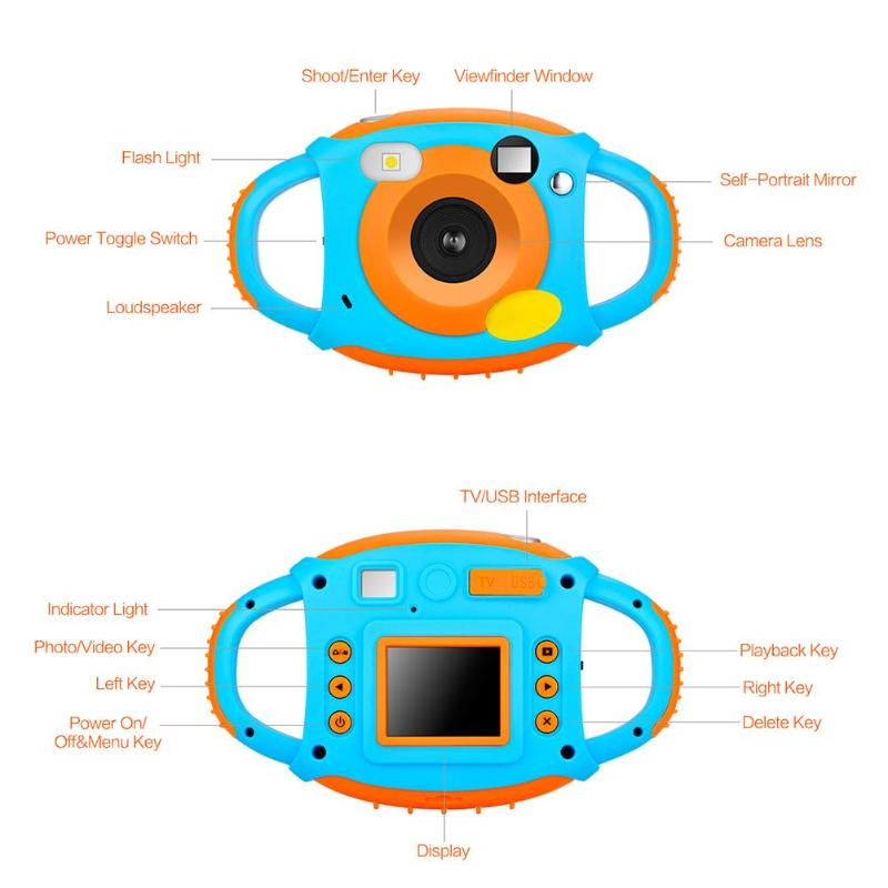 """HTB1zKO7GuGSBuNjSspbq6AiipXaA 1080P 5MP child camera Cartoon 1.77"""" Mini LCD Camera HD 500W Digital Camera For Kids Camcorders For Children baby Automatic Came"""