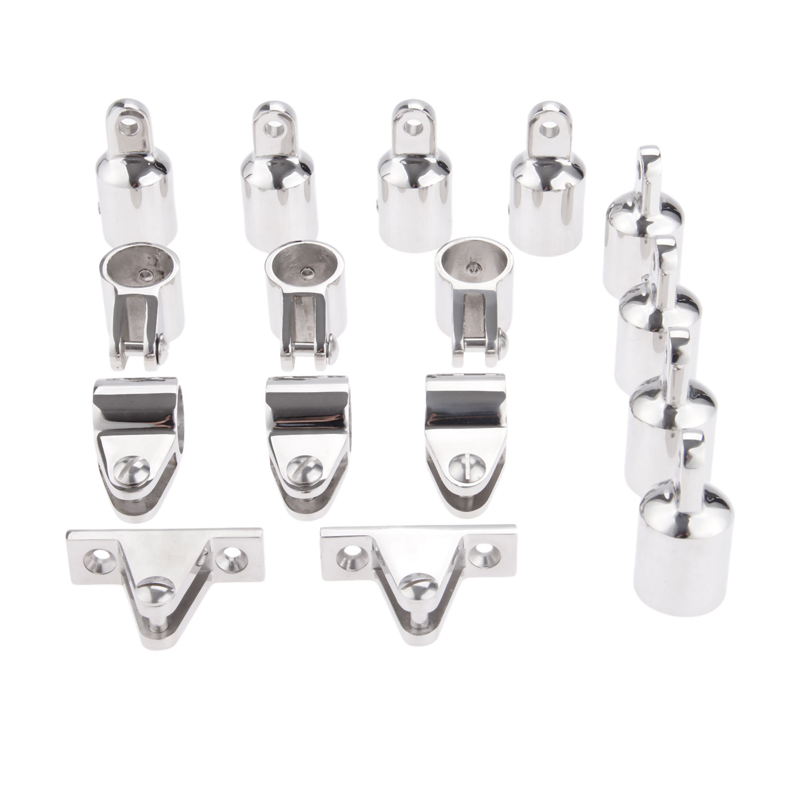"16pcs Boat Fittings Hardware 7//8/"" Deck Hinge Accessories Set for 4-Bow Boat"
