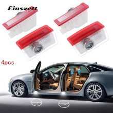 Einszett 4pcs For Mercedes Benz A B E C ML GL Laser Projector Lamps Car LED Door light Welcome Logo Light