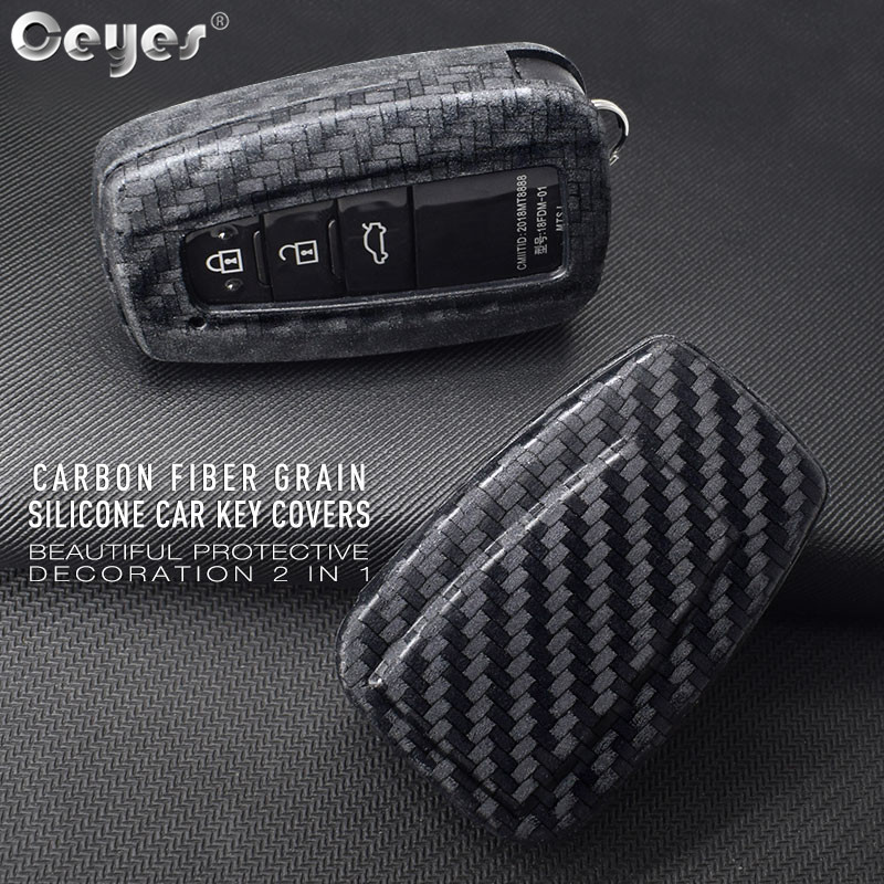 Ceyes Car <font><b>Accessories</b></font> Styling Protect Shell Cover Case For <font><b>Toyota</b></font> C HR Camry CHR C-HR Prius Corolla <font><b>RAV4</b></font> Prado <font><b>2018</b></font> 2 3 4 Button image