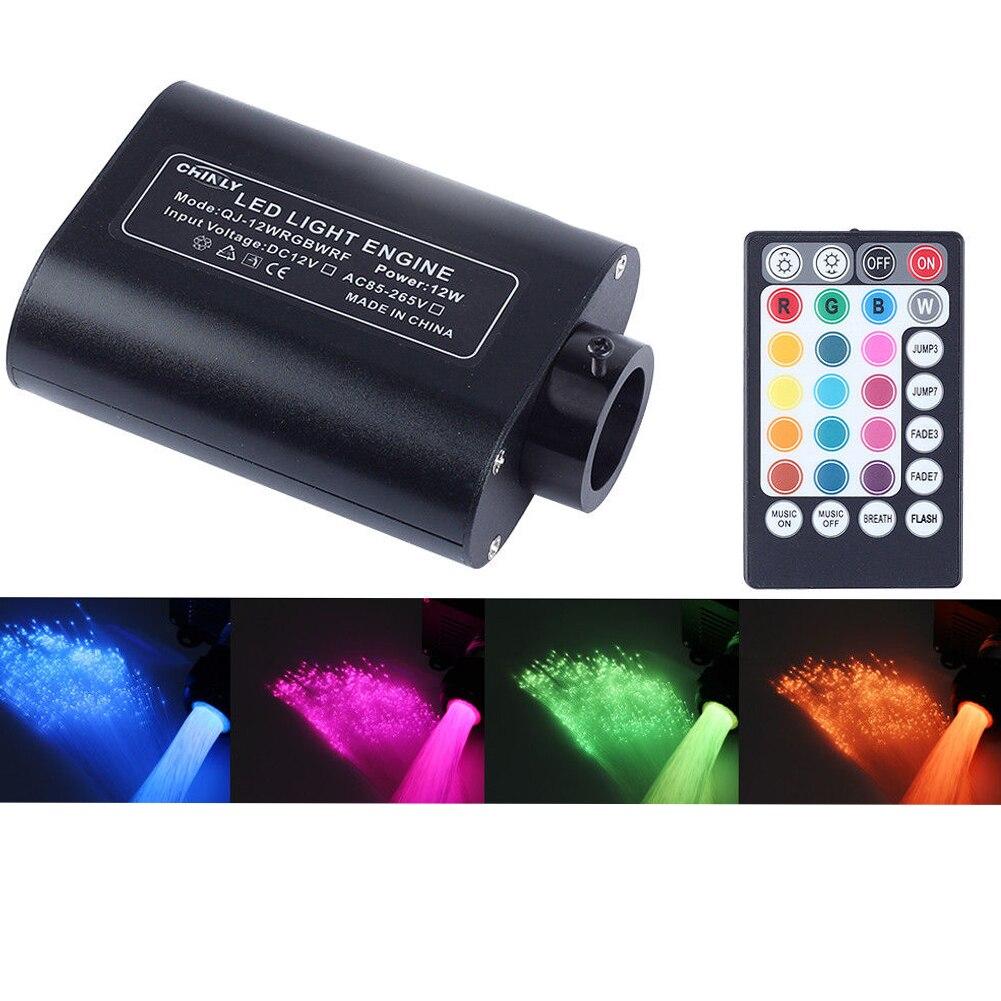 Fibre optique lumière Led Super lumineux Portable émetteur RGBW chambre voiture toit musique contrôle décoration 12 V Restaurant étoile ciel 12 W