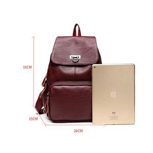 Image 3 - Genuine Leather Backpack Bags For Women 2019 Large Capacity Women Backpack Waterproof  Youth School Bags