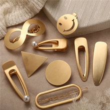 US $1.26 49% OFF|Hair Accessories Metal Snap Hair Clips Snap Hairpins Hairclips Hair Smiley Face Snap Clips Hairgrips Barrettes Hairdressing Tool-in Women's Hair Accessories from Apparel Accessories on Aliexpress.com | Alibaba Group