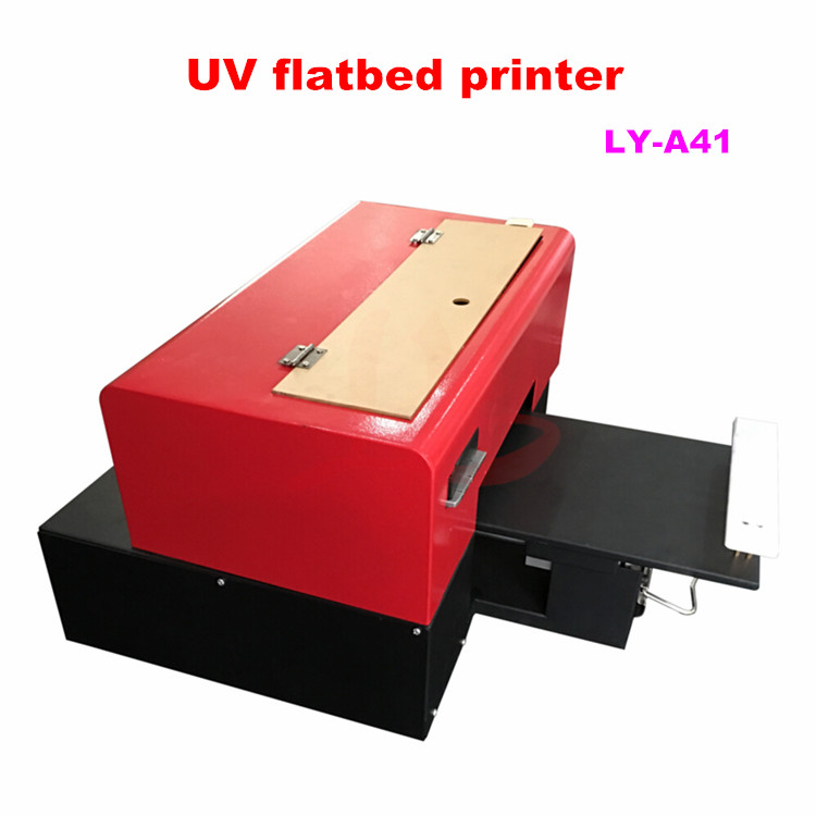 LY A41 Mini a4 digital flatbed uv printer max print size 205x260mm print height 30mm 6 colors nozzle 1440 DPI