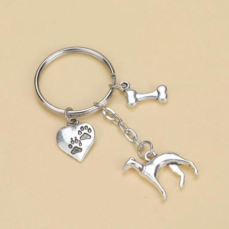 Chaveiro porta chaves para as mulheres 10 pcs Cat And Dog pegadas chaveiro  tibetano ossos de prata chaveiros chave anéis presente 70 X 28 mm S6588 e42fe0b4eb