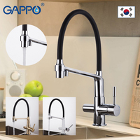 Gappo Kitchen Faucets with Filter Drinking Water Mixer Deck Mounted Cold Hot Water Mixer Single Hole Brass kitchen Mixer