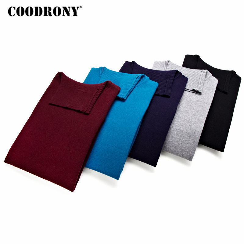 COODRONY Sweater Men Pullover Cashmere-Wool Autumn Winter Homme Thick Casual Warm Turtleneck