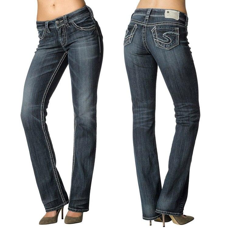 Nueva plata jeans suki straigth para las mujeres alta jpg 750x750 Marcas de pantalones  para mujer 82f966b10324