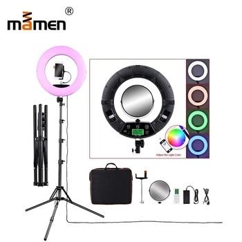 96W Mamen Ring Light 2800-10000K 4800lm 480pcs LED Lamp Phone Control Photography Lighting Photo Studio Video Camera LED Light