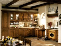 Твердая древесина кухонных шкафов стоящие (lh sw020)