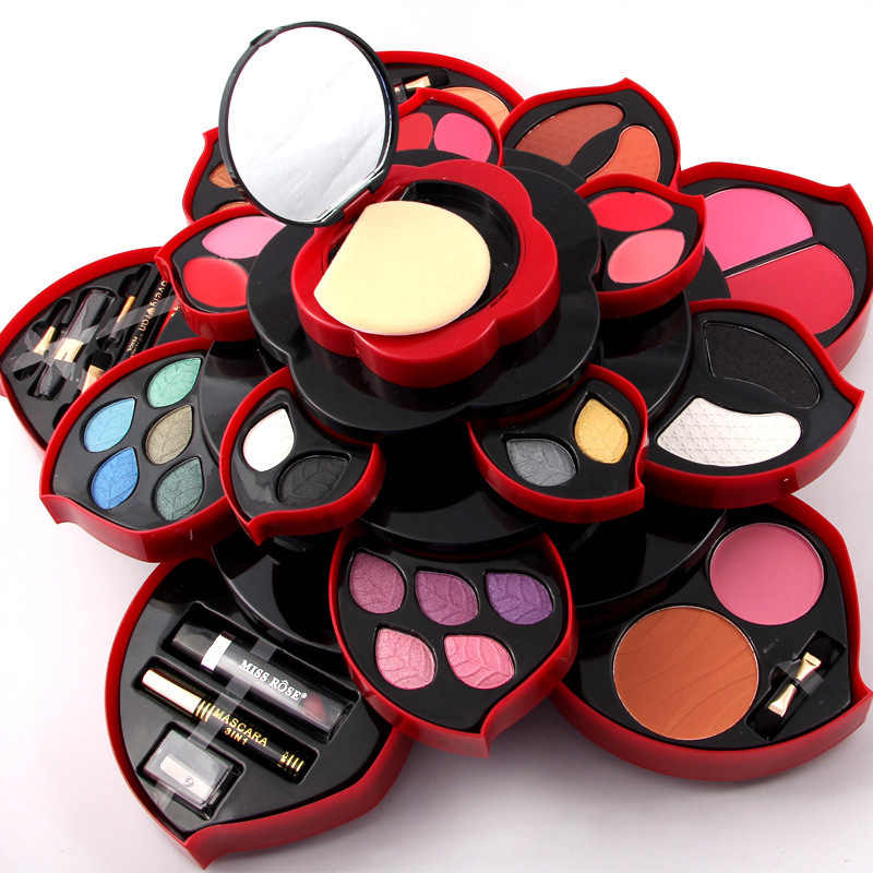 Plum Rotating Make-up Suits A Full Set of Makeup Artist Eye Shadow Lipstick Repair Capacity Paste Eyebrow Powder Blush Disc 5g disc repair ultra paste repair scratches of cd dvd blu ray and games discs