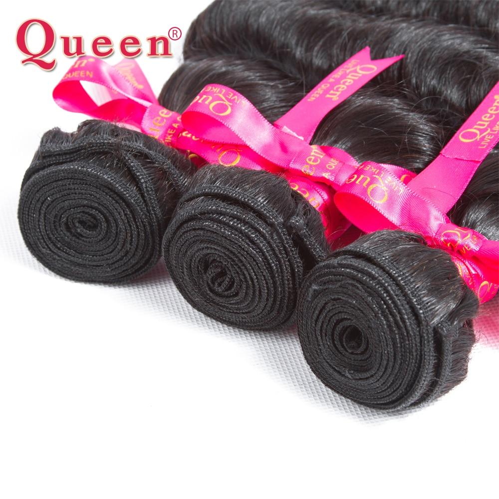 Queen Hair Products Պերուական մազերի ալիքների - Մարդու մազերը (սև) - Լուսանկար 3