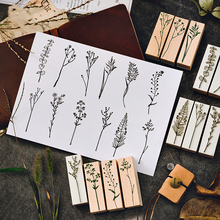 Plant World 1pc Big Wooden Scrapbooking Stamp Beautiful DIY Craft Stationery Gift