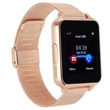 Bluetooth smart watch apoyo tarjeta sd sim smartwatch para android teléfono whatsapp pk gt08 q18 acero correas para samsung huawei