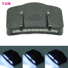 Black 11 LED Flashlight Camping Clip-On Cap/Hat Light #G205M# Best Quality