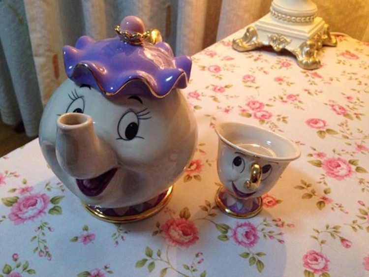 Cartoon-Beauty-And-The-Beast-Teapot-Mug-Mrs-Potts-Chip-Tea-Pot-Cup-Set-Porcelain-Gift (4)