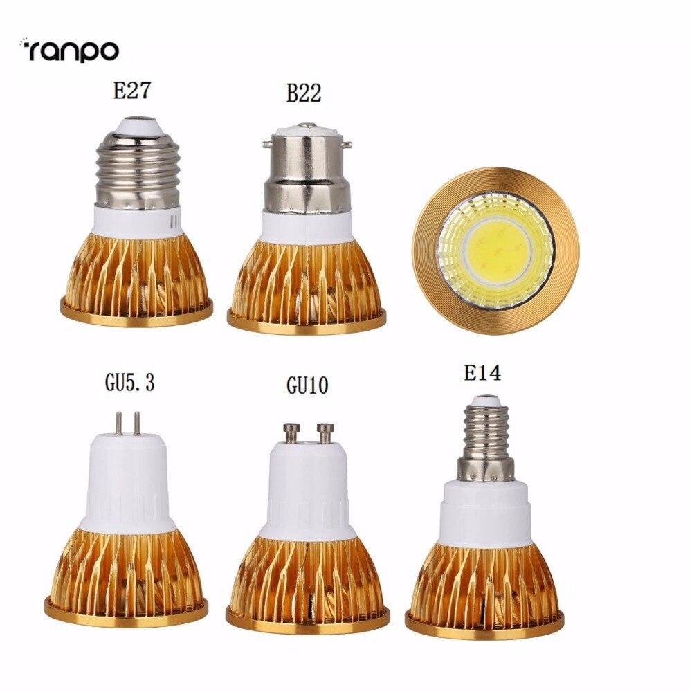 Led Bulbs & Tubes High Power Lampada Led B15 B22 E14 E27 Gu5.3 Gu10 Mr16 Bulbs Lights Warm/white Ac85-265v 6w 9w 12w Cob Led Lamp Light Spotlights