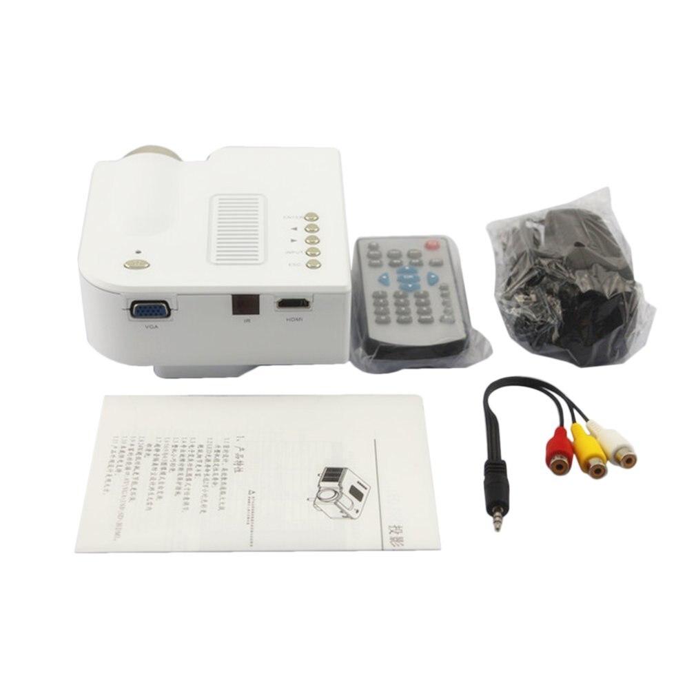 Projecteur Pro haute définition UC28 + LCD Mini projecteur de divertissement à LED basse puissance Portable pour cinéma maison
