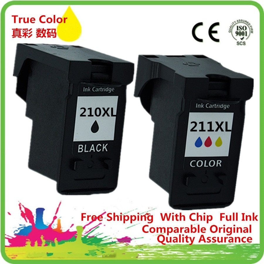 Tinte Patrone Remanufactured Für <font><b>Canon</b></font> PG-<font><b>210</b></font> PG-210XL PG <font><b>210</b></font> 210XL PG210 PG210XL CL-<font><b>211</b></font> CL <font><b>211</b></font> CL-<font><b>211</b></font> Pixma iP2700 iP2702 MP240 image