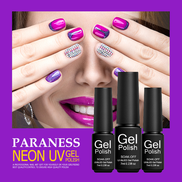 Paraness newest shimmer neon uv gel nail polish lak semi permanent paraness newest shimmer neon uv gel nail polish lak semi permanent beauty led gel varnish rainbow solutioingenieria Choice Image