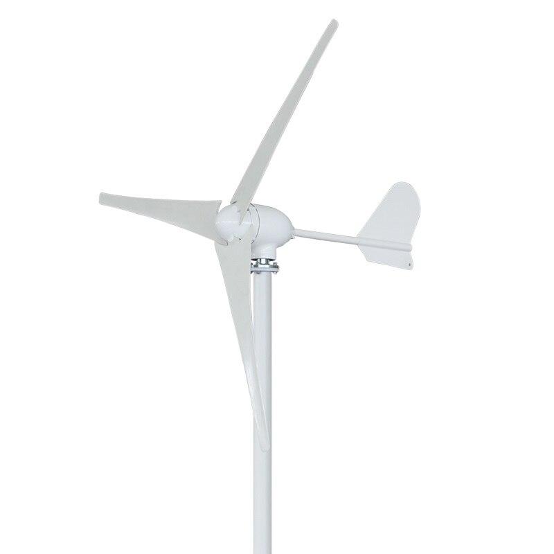 US $491 15 5% OFF|Factory price 500W 12V/24V/48V 3/5 blades Mini horizontal  wind turbine generator with MPPT Wind Solar Hybrid Controller -in