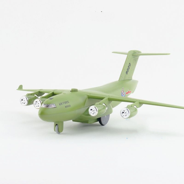 Niños Diyaduo C-54 Skymaster Fuerza Aérea Avión de Transporte de Luz y Sonido y Tire Hacia Atrás diecast Metal Toy Presente Regalo de Los Cabritos