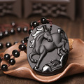 Natural men and women with obsidian zodiac plutus transshipment horse pendant to ward off bad luck