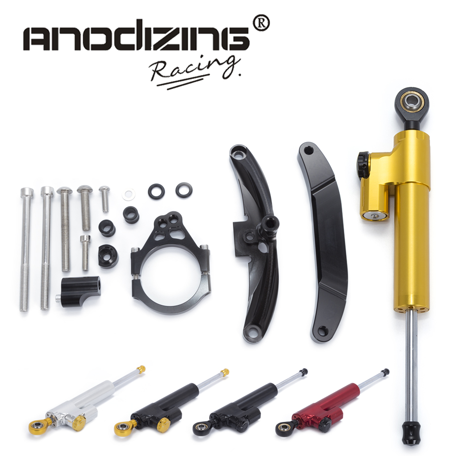 Motorcycle CNC Steering Damper Stabilizerlinear Reversed Safety Control with Bracket For Yamaha FZ1 FAZER 2006 2007 2008-2015 motorcycle cnc steering damper mounting bracket for yamaha fz1 fazer 2006 2007 2008 2015