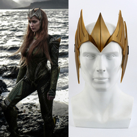 2018 Movie Aquaman Mera Queen Cosplay Headwears Masks Superheroine Headgear Headdress PVC Crown Party Halloween Props