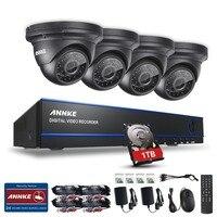 SANNCE 2MP 1080P 4 Channel 1920 1080 DVR AHD Surveillance Kit 4PCS 3000TVL Outdoor Night Vision