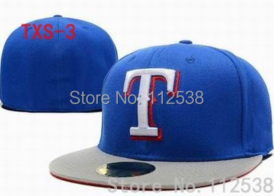 T letter caps Texas Rangers Fitted Flat Hats Sports Team Baseball Size Caps  One Piece free shipping -in Baseball Caps from Apparel Accessories on ... 53c4d2f1d10b
