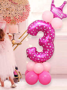 Balloon-Toy Party-Hat Birthday-Party-Decoration Inflatable Children's Cartoon Column