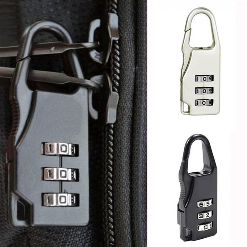 Mini Padlock Travel Suitcase Luggage Security Password Lock 3 Digit Combination Bag Parts & Accessories