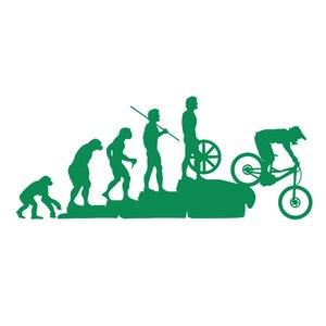 Image 5 - 22.8*9.5CM Interesting Evolution Sticker Bike Mountain Downhill Cartoon Car Stickers Personalized Vinyl Reflective Window Decals