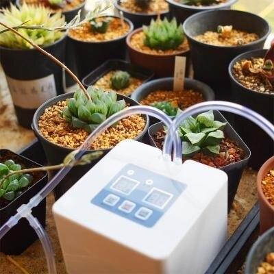 DIY Micro Automatique Irrigation Goutte À Goutte Kit Système D'auto-Arrosage Avec 30-Jour Minuterie Et USB Graines De Fleurs Pulvérisateur Multi bas Prix