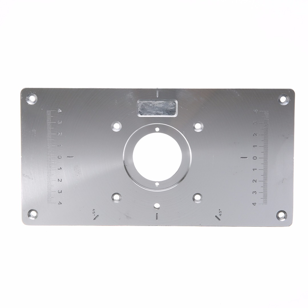 New wood router table insert plate aluminium alloy table insert new wood router table insert plate aluminium alloy table insert plates with insert rings woodworking machinery tools mayitr in wood routers from tools on keyboard keysfo Choice Image