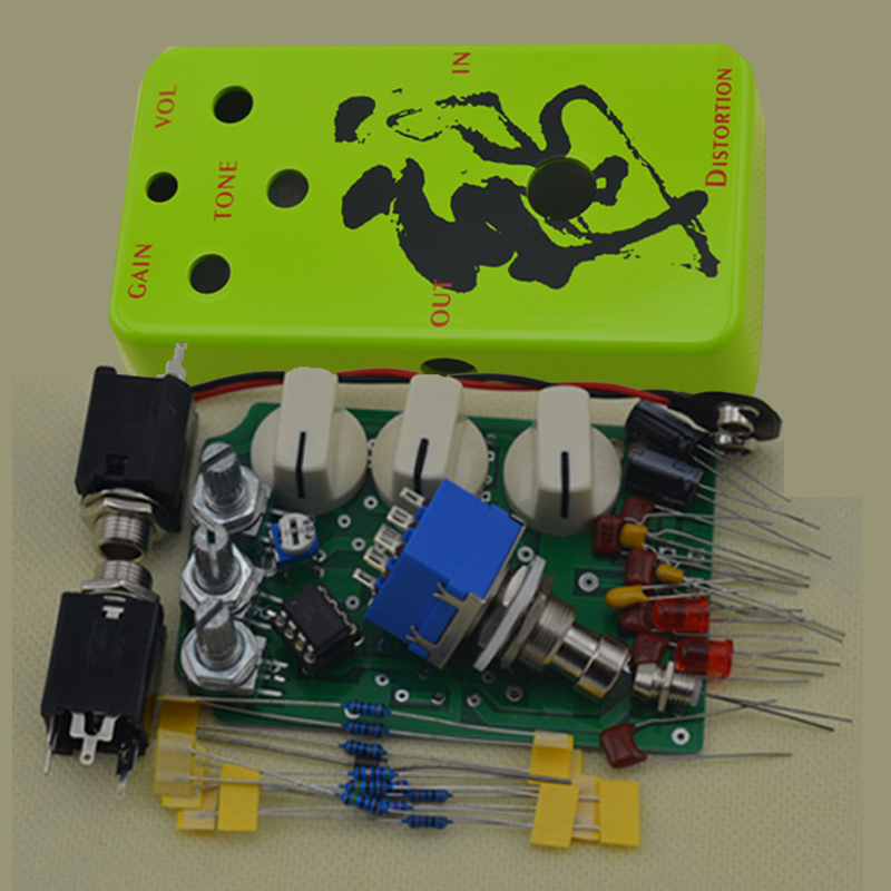 diy distortion pedal guitar kit true bypass with enclosure guitar parts accessories in guitar. Black Bedroom Furniture Sets. Home Design Ideas