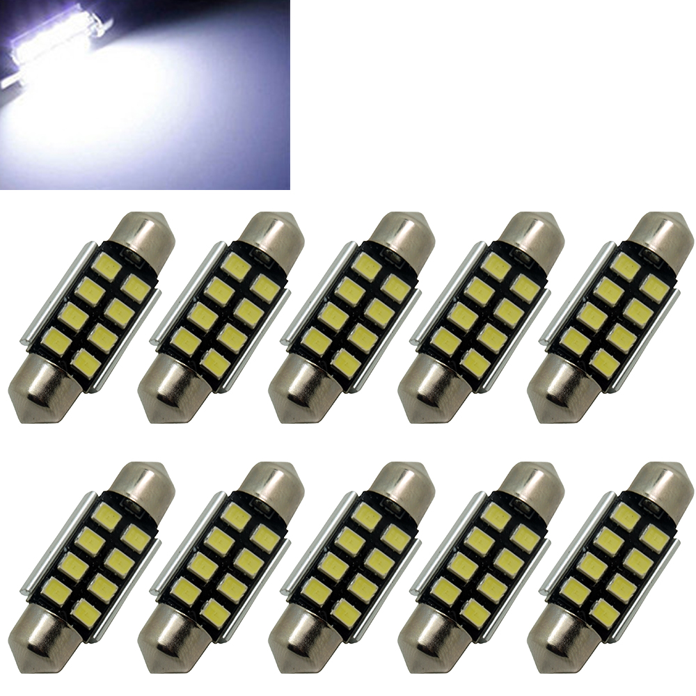 2 stücke C5W 3 LED SMD 5050 36mm Xenon Weiß Birne platte shuttle Girlanden kuppel decke lampe auto licht