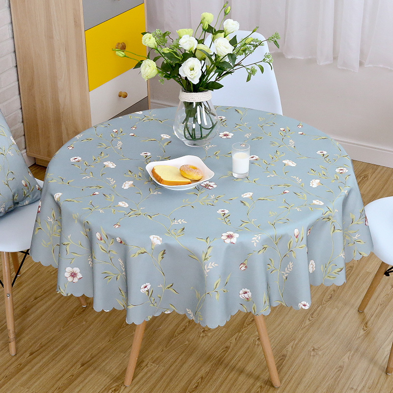 Proud Rose Waterproof Round Table Cloth Printed Tablecloths Custom Rural Style Decoration Cover Cloth Hotel Supplies|Tablecloths| |  - title=