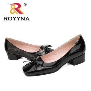 Image 5 - ROYYNA 新着ファッションスタイルの女性パンプス蝶ノット女性ドレス靴スクエアトゥ女性オフィス靴浅い女性靴