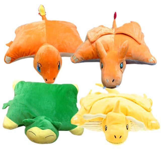 4 Estilos Pikachu Snorlax Peluches 45 cm * 33 cm Charmander Charizard Dragonite Almohada Rellena Suave de la Muñeca del Regalo Brithday